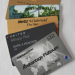 Stack of Premium Frequent Traveler Program Cards