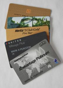 Stack of Premium Frequent Traveler Program Cards