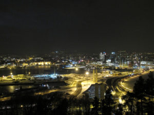Oslo at night. Courtesy image by Bernt Rostad under Creative Comms license.