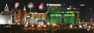 An MGM Grand Fireworks View from McCarran International Airport