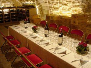 De Vinis Illustribus in Paris. Pictured here is a cellar tasting dinner setup. Courtesy image