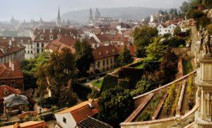 Great Palffy Garden in Prague, Czech Republic