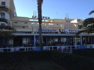 Malvarosa Beach in Valencia Has a Boardwalk of Restaurants and Hotels