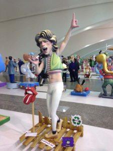 Mick Jagger Ninot at Valencia Science Museum Temporary Exhibtion