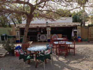 Outdoor Seating at Toni Montoliu Restaurant