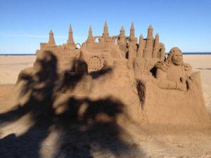 Sand Castle Seen Along Malvarrosa Beach in Valencia