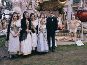 Traditional Costumes in Valencia, Spain, During Fallas
