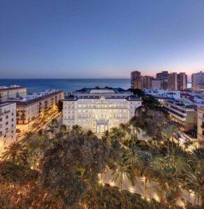 Gran Hotel Miramar in Malaga Spain City and Sea