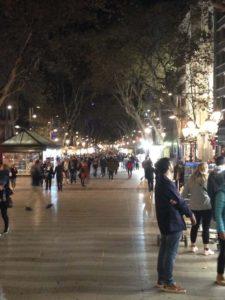 La Rambla in Barcelona at Night (November 2017)