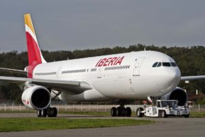 Iberia A330 - Chicago to Madrid Route