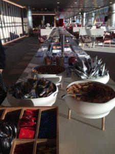 Iberia Business Class Lounge T4 Madrid Breakfast Buffet