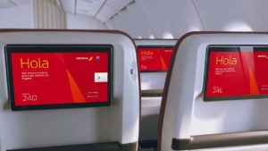 Iberia Premium Economy 12 inch HD Screens for Entertainment