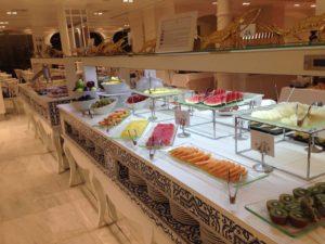 Gran Hotel Miramar Breakfast Fruit Station at Mediterraneo Restaurant