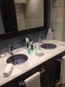Gran Hotel Miramar Classic Arabian Room Guest Bath with Hermes Amenities