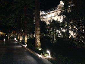 Gran Hotel Miramar Drive and Gardens at Night