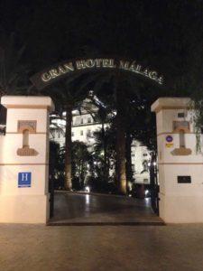Gran Hotel Miramar Entrance at Night
