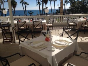 Lunch on the Terrace at Principe de Asturias Restaurante at Gran Hotel Miramar with Amazing Sea Views