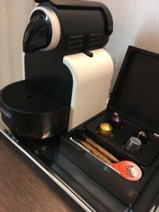 Nespresso Machine at Gran Hotel Miramar Guest Room