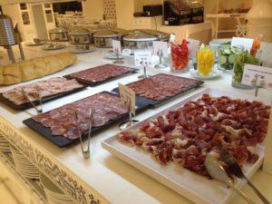 Spanish Meats at the Breakfast Buffet at Gran Hotel Miramar