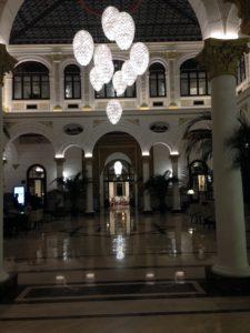 Gran Hotel Miramar Atrium Lobby At Night