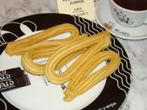 Churros and Chocolate at 4 Cats in Barcelona