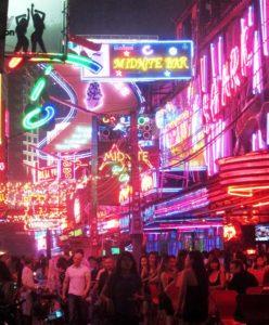 Bangkok Bar Area After Dark