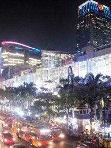 CentralWorld in Bangkok at night