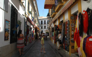 Shopping in the Old Town of Cordoba, Spain