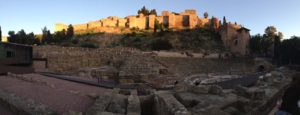 El Teatro Romano Is the Oldest Monument at the Foot of Alcazaba Fortress in Málaga City, Spain