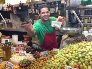 Food Stand Inside Mercado Central de Atarazanas in Malaga, Spain