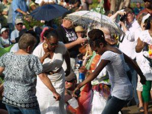 French Quarter Festival Crowd Dancing