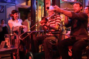 Musicians in New Orleans Frenchmen Street