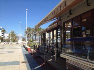 Gutierrez Playa Restaurant Along the Sea in Malaga, Spain