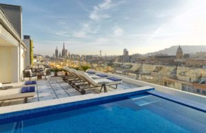 H10 Cubik Hotel Barcelona Rooftop Terrace Pool and Views
