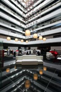 Hilton Madrid Airport Atrium Event Setup