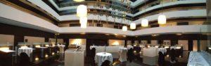 Hilton Madrid Airport Atrium Lobby Setup Panoramic