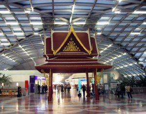 Inside Suvarnabhumi Airport in Bangkok