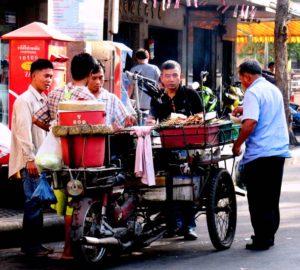 Mobile Food Stall on the Streets of Bangkok