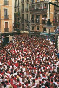 Pamplona During Running of the Bulls