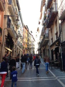 Pamplona's Narrow Streets