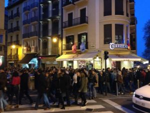Pintxos Bar Streets of Pamplona Can Be Lively