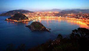 San Sebastian, Spain at Night