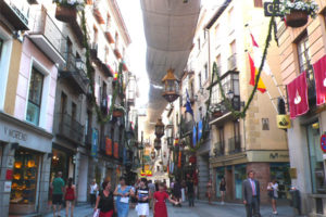Shopping Inside the Walled-City of Toledo, Spain