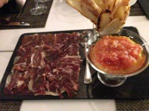 Traditional Spanish tapas at Hilton Madrid Airport's Reserva Grill
