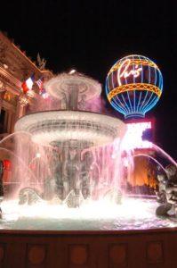 Paris Hotel at Night in Las Vegas