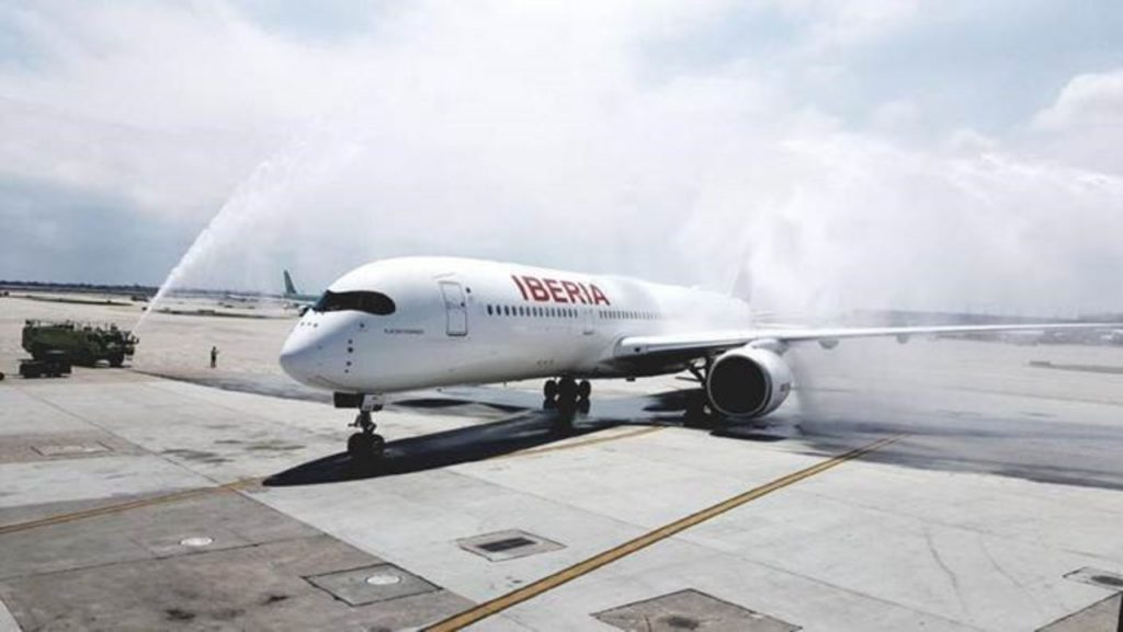 iberia airlines new airbus 350 900 now flying chicago and madrid business travel destinations iberia airlines new airbus 350 900 now